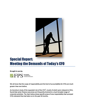 Special Report: Metting the Demands of Today's CFO